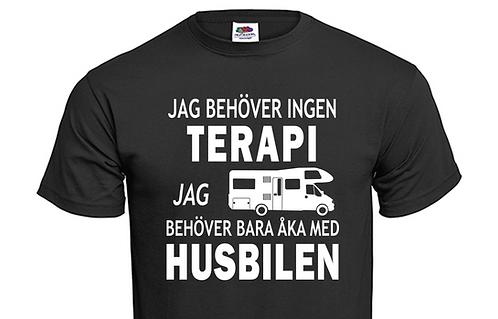 T-shirt Jag behöver ingen TERAPI jag behöver bara åka med Husbilen Ver 4