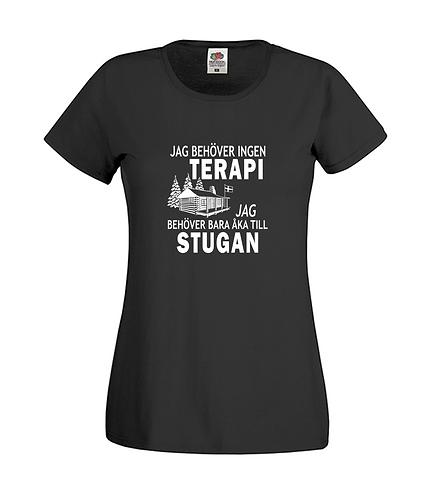 Ladyfit T-shirt Jag behöver ingen TERAPI Jag behöver bara åka till STUGAN