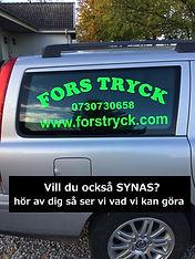 Reklam på bilen, utskuren vinyl