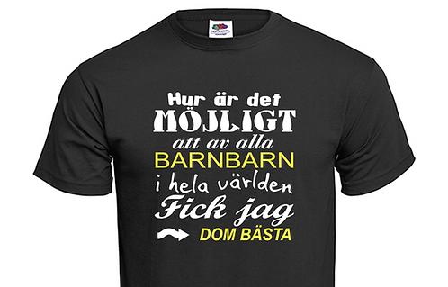 T-shirt Hur är det möjligt att av alla barnbarn i hela världen fick jag dom bäst
