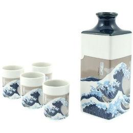 Kanagawa Great Wave Sake Set