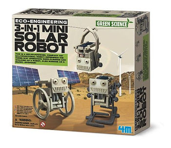 4M 3-in-1 Eco Enginering Mini Solar Robot Toy