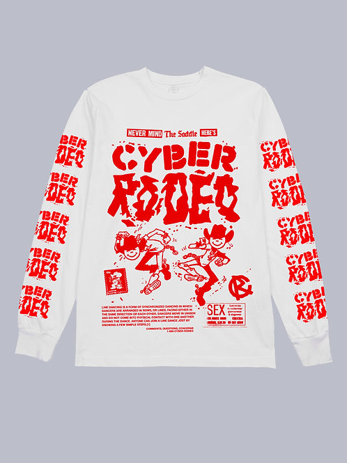 Cyber Rodeo Red & White Long Sleeve (Low In Stock)