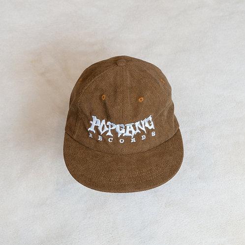 Popgang Strapback Corduroy Cap