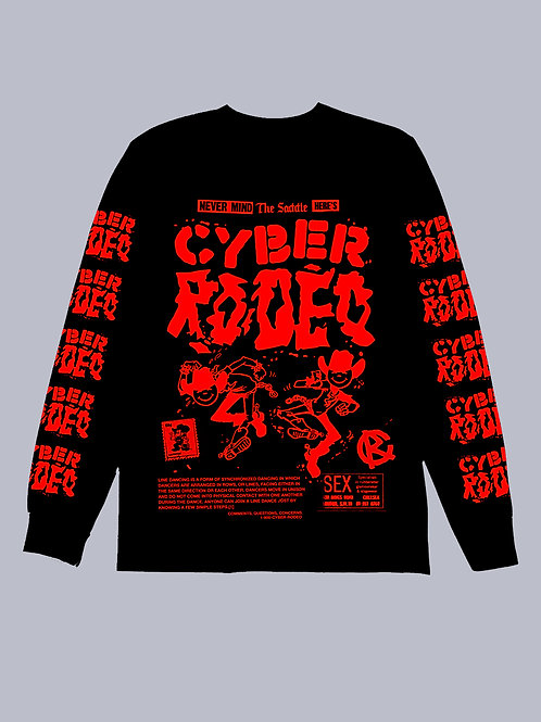 Cyber Rodeo Red & Black Long Sleeve