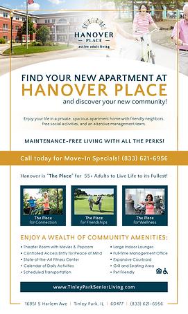 Hanover Place - Print Ad for Senior Blue