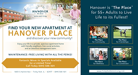 Hanover Place - Postcard Direct Mail Ad_