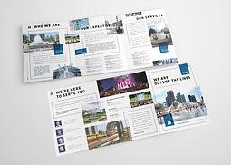 11x25.5 Tri-Fold Brochure Mockup Templat