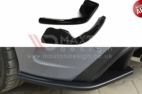 MAXTON DESIGNS RS MK3 REAR SIDE SPLITTERS - BLACK