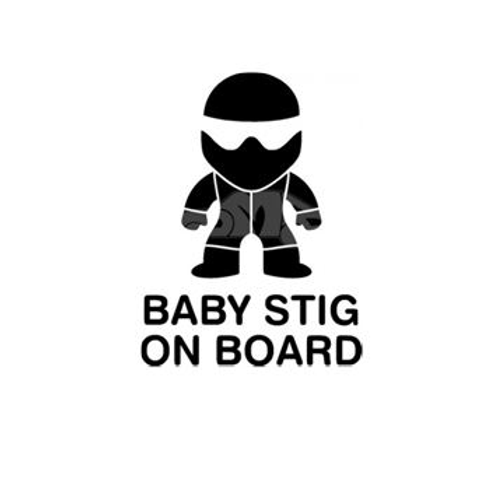 Baby STIG On Board Window decal