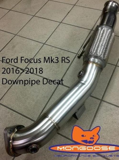 Mongoose Downpipe/Decat - Focus RS Mk3