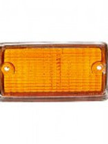 M25-16-97-2 - Front Indicator Lens - amber with Painted Chrome surround