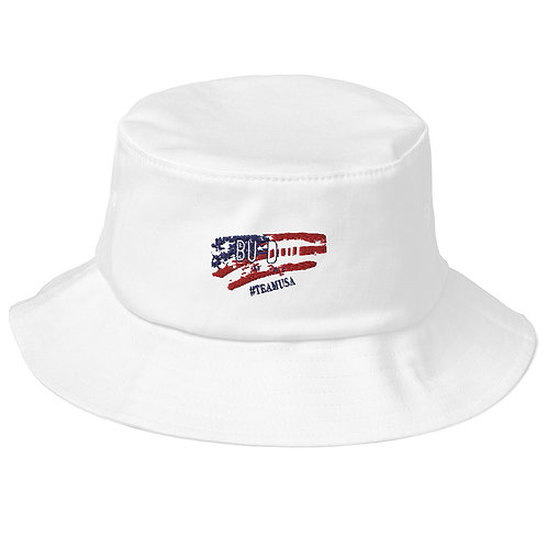 Bu DoU USA Old School Bucket Hat
