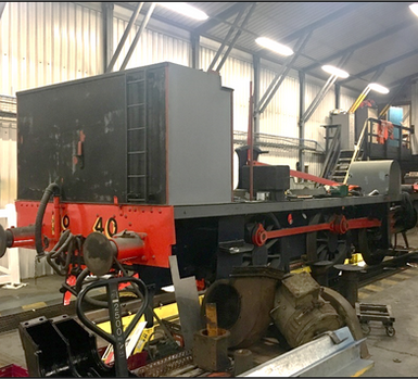 The rolling chassis at Wolsingham depot.