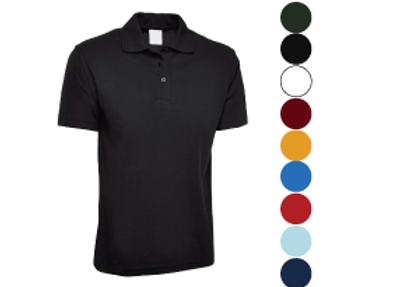 Polo Shirts (free text logo, stitch or vinyl)