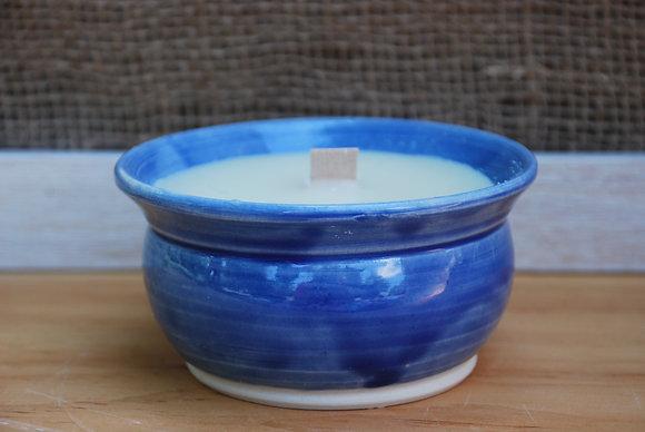 Medium Blue Citronella Candle