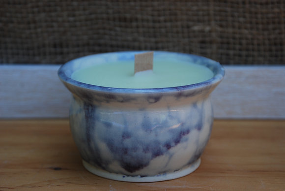 Small Purple Bubble Citronella Candle