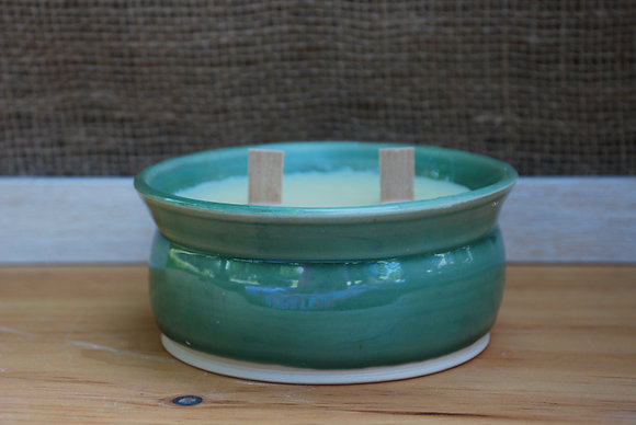 Large Green Citronella Candle