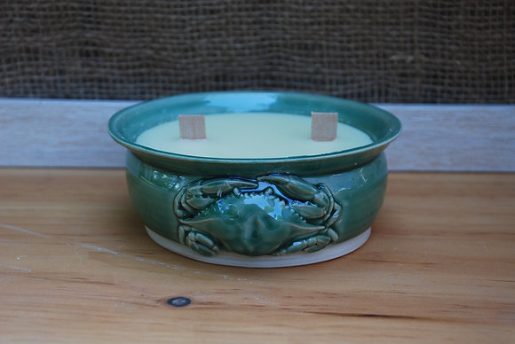 Large Green Crab Citronella Candle