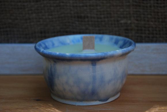 Small Blue Bubble Citronella Candle