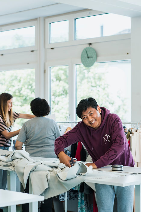 Refugee inclusion through sewing at Social Fabric, Zurich