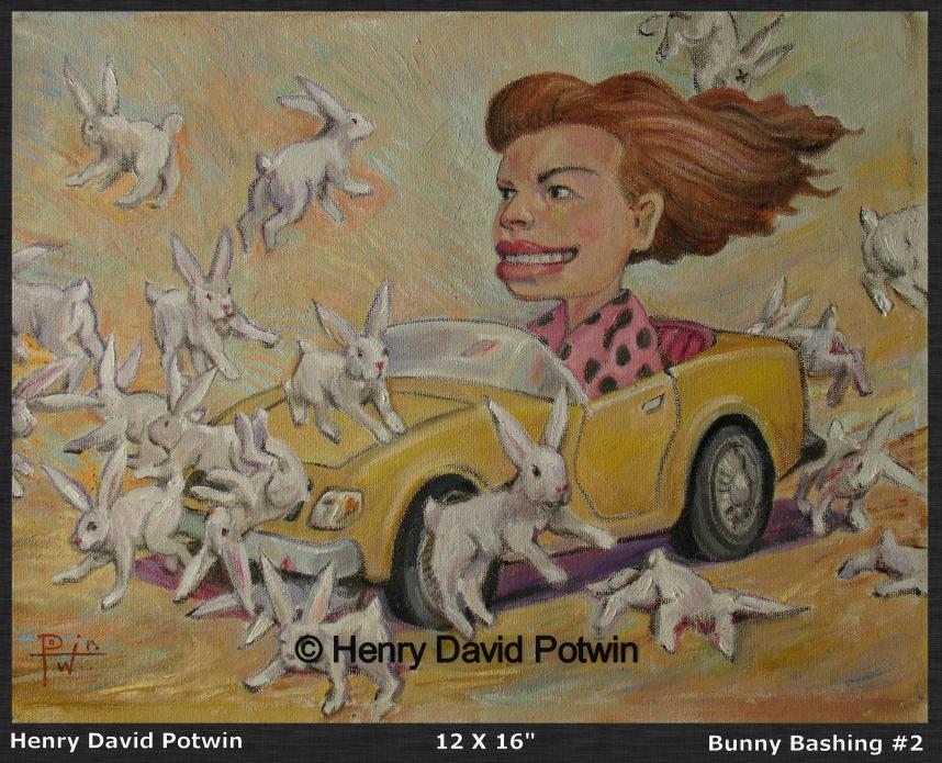 """Bunny Bashing 2  - 2008 12X16"""""""