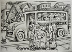 Prison Bus Bw