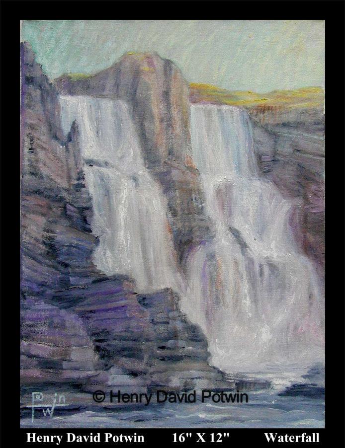 """Waterfall  - 2000-2001 16X12"""""""