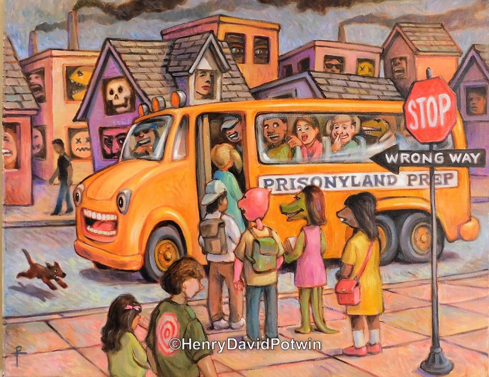 "Prison Bus - 2017 22X28"""