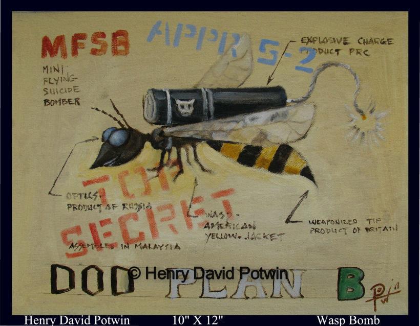 """Wasp Bomb  - 2007 10X12"""""""