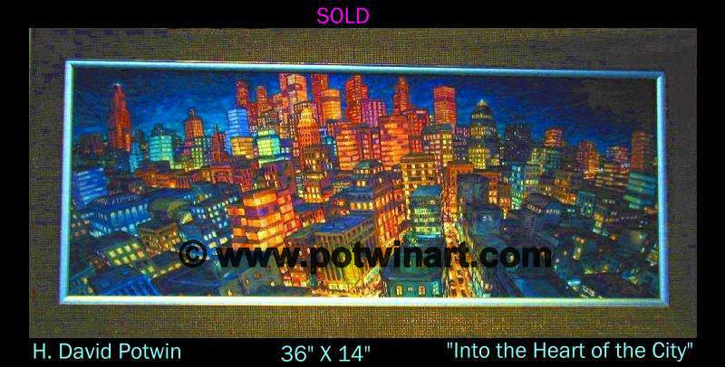 Into The Heart of the City  - 1990's 36X14""
