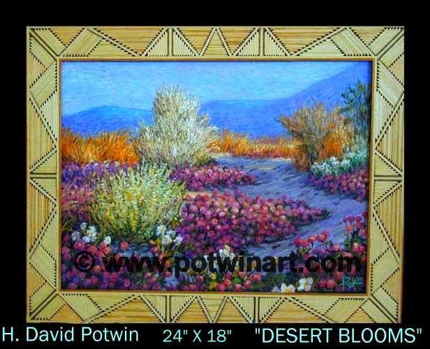 """Desert Blooms  - 1990's 18X24"""""""