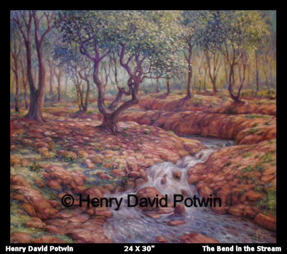 The Bend in the Stream  - 2006 32X36""