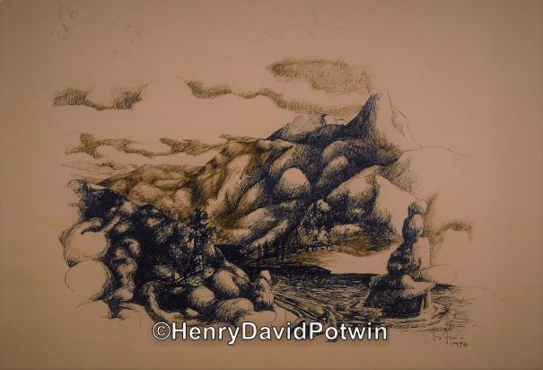 "Untitled (mountain stream)  - 1970-80 8X12"""