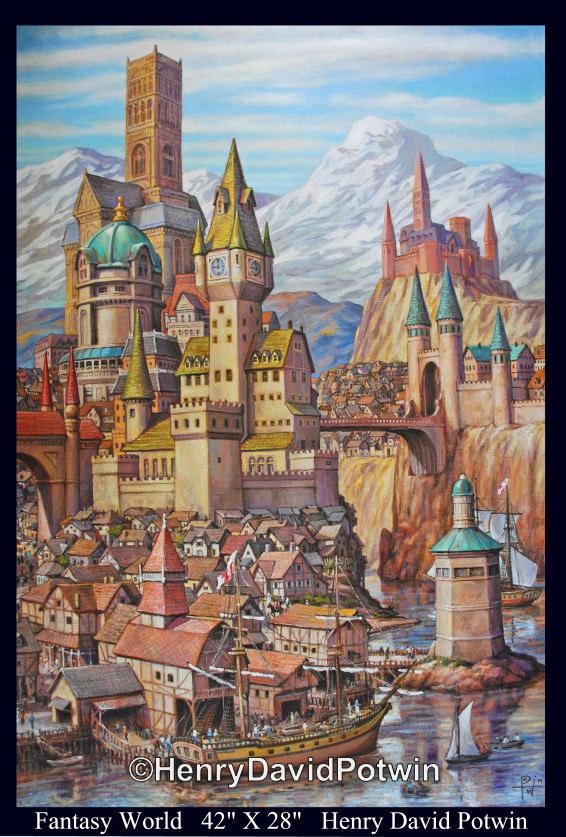 "Fantasy World   - 2011 42X28"""