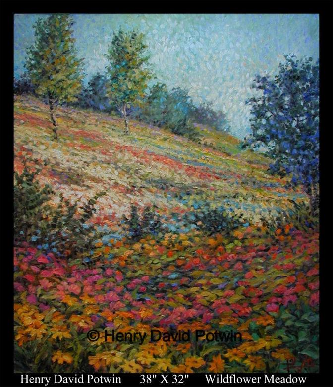 "Wildflower Meadow  - 1990's 38X32"""