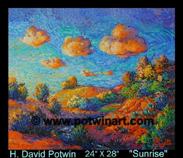 "Sunrise  - 1990's 24X28"""