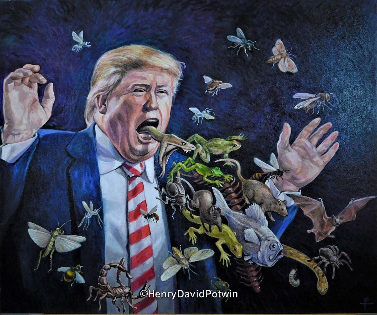 "Donald Spews  - 2017 30X36"""