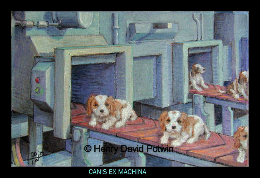 "Canis Ex Machina  - 1990's 12X18"""