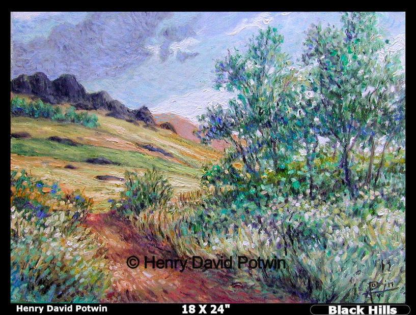 """Black Hills  - 1990's 18X24"""""""