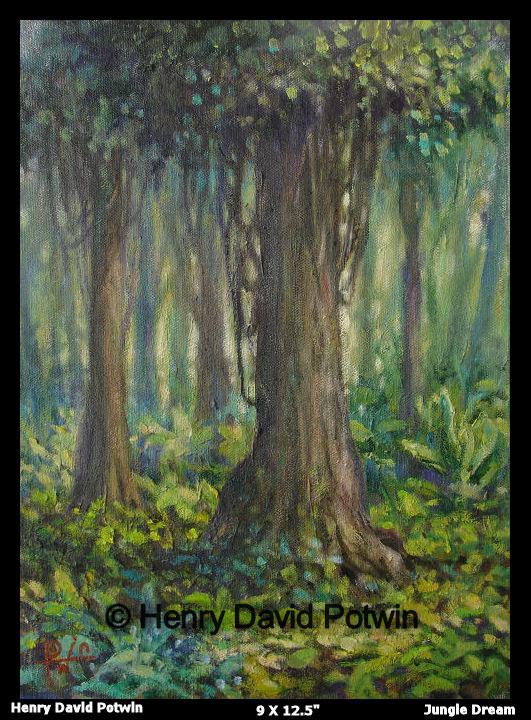 "Jungle Dream  - 2007 9X12.5"""