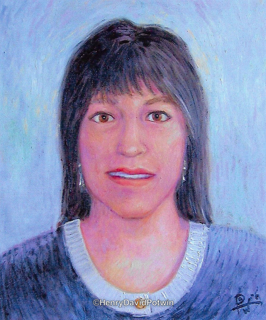Portrait Cathy - 2002 16X18""
