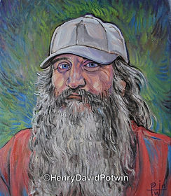 Henry David Potwin Old Man Portrait