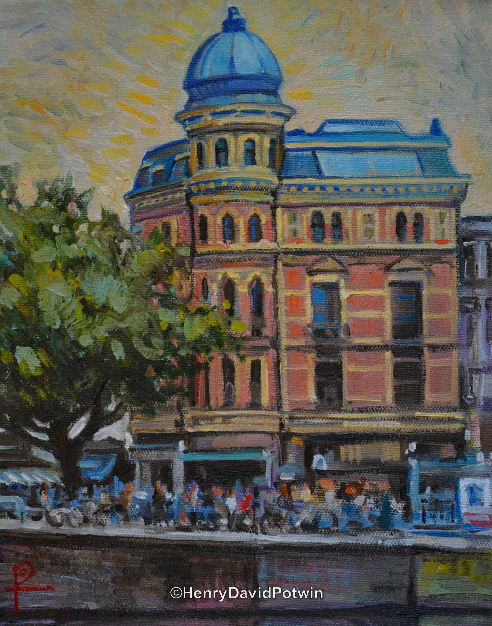 "Amsterdam Street Scene - 2013 10X8"""