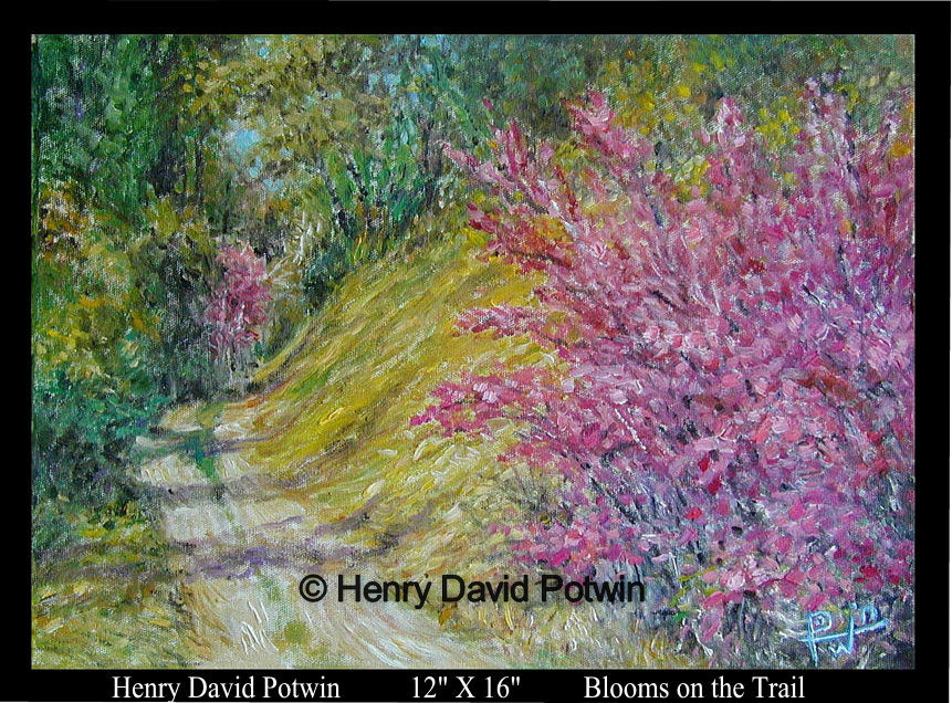 Blooms on the Trail  - 1990's 12X16""