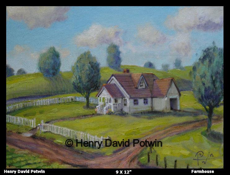 "Farmhouse  - 2006 9X12"""