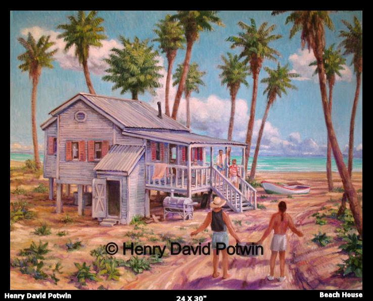 """Beach House  - 2006 24X30"""""""