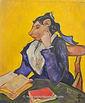Madame Gerbil with Books (after Vincent Van Gogher)