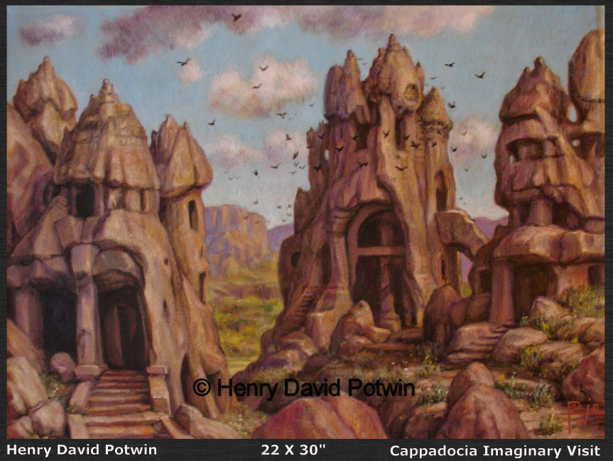 """Cappadocia Imaginary Visit  - 2008 22X30"""""""
