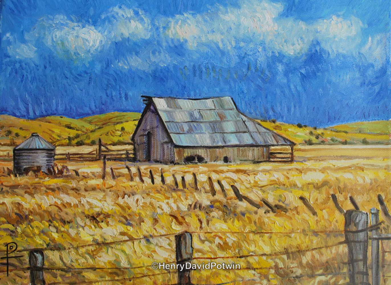 """An Old Barn Hayden Hill - 2013 11X9"""""""